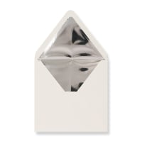 160 x 160mm Ivory Envelopes Lined With Silver Foil Paper