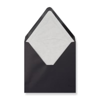 160 x 160mm Black Envelopes Lined With White Paper