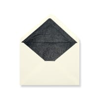 C5 Ivory Envelopes Lined With Black Paper