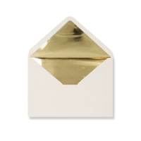 C5 Ivory Envelopes Lined With Gold Foil Paper