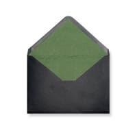 C5 Black Envelopes Lined With Green Paper