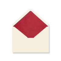 C5 Ivory Envelopes Lined With Red Paper