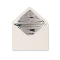 C5 Ivory Envelopes Lined With Silver Foil Paper