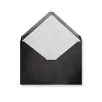 C5 Black Envelopes Lined With White Paper