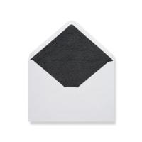C6 White Envelopes Lined With Black Paper