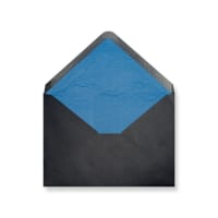 C6 Black Envelopes Lined With Blue Paper