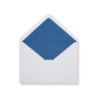 C6 White Envelopes Lined With Blue Paper