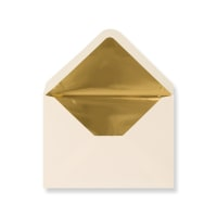 C6 Ivory Envelopes Lined With Gold Foil