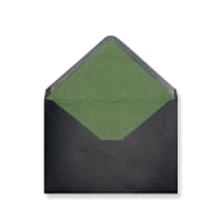 C6 Black Envelopes Lined With Green Paper