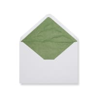 C6 White Envelopes Lined With Green Paper