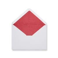 C6 White Envelopes Lined With Red Paper