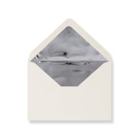 C6 Ivory Envelopes Lined With Silver Foil