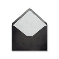 C6 Black Envelopes Lined With White Paper
