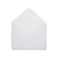 C6 White Envelopes Lined With White Paper