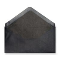 DL Black Envelopes Lined With Black Paper