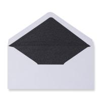 DL White Envelopes Lined With Black Paper