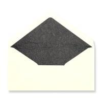 DL Ivory Envelopes Lined With Black Paper