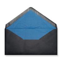DL Black Envelopes Lined With Blue Paper