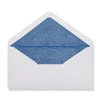 DL White Envelopes Lined With Blue Paper