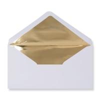 DL White Envelopes Lined With Gold Foil