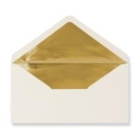 DL Ivory Envelopes Lined With Gold Foil