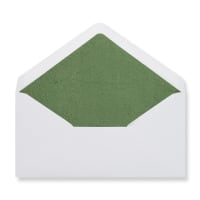 DL White Envelopes Lined With Green Paper