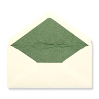 DL Ivory Envelopes Lined With Green Paper