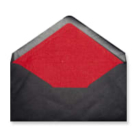 DL Black Envelopes Lined With Red Paper