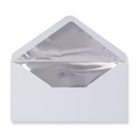 DL White Envelopes Lined With Silver Foil