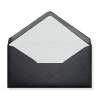 DL Black Envelopes Lined With White Paper