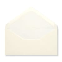 DL Ivory Envelopes Lined With White Paper