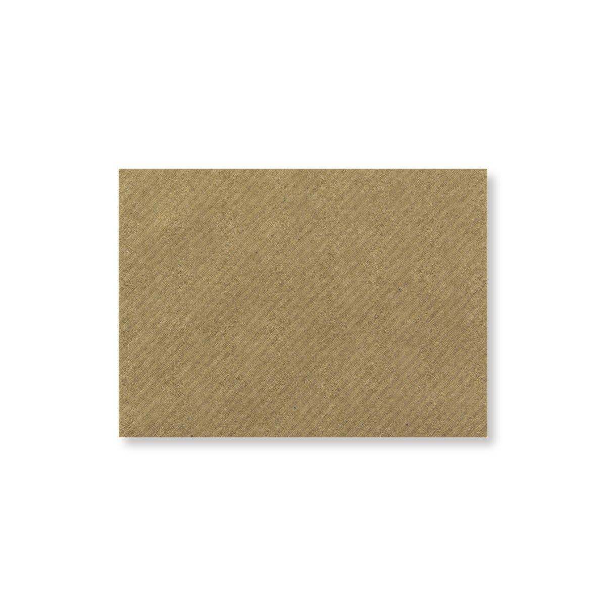 RIBBED KRAFT 70 x 100 mm GIFT TAG ENVELOPE (i2)