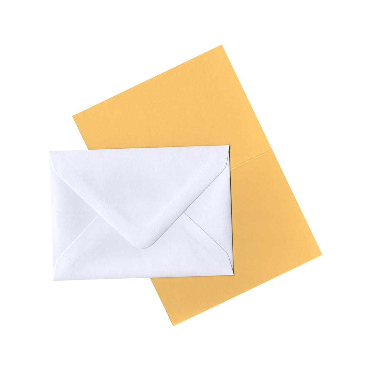 A7 MID YELLOW CARD BLANKS AND WHITE ENVELOPES (PACK OF 10)