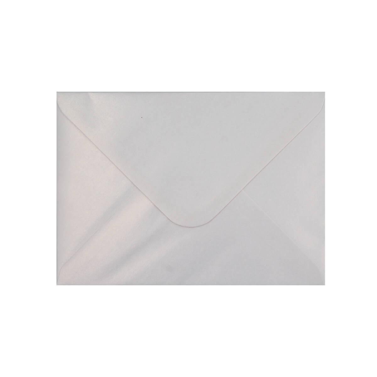 PEARLESCENT SNOW WHITE 133 x 184mm ENVELOPES (i8)