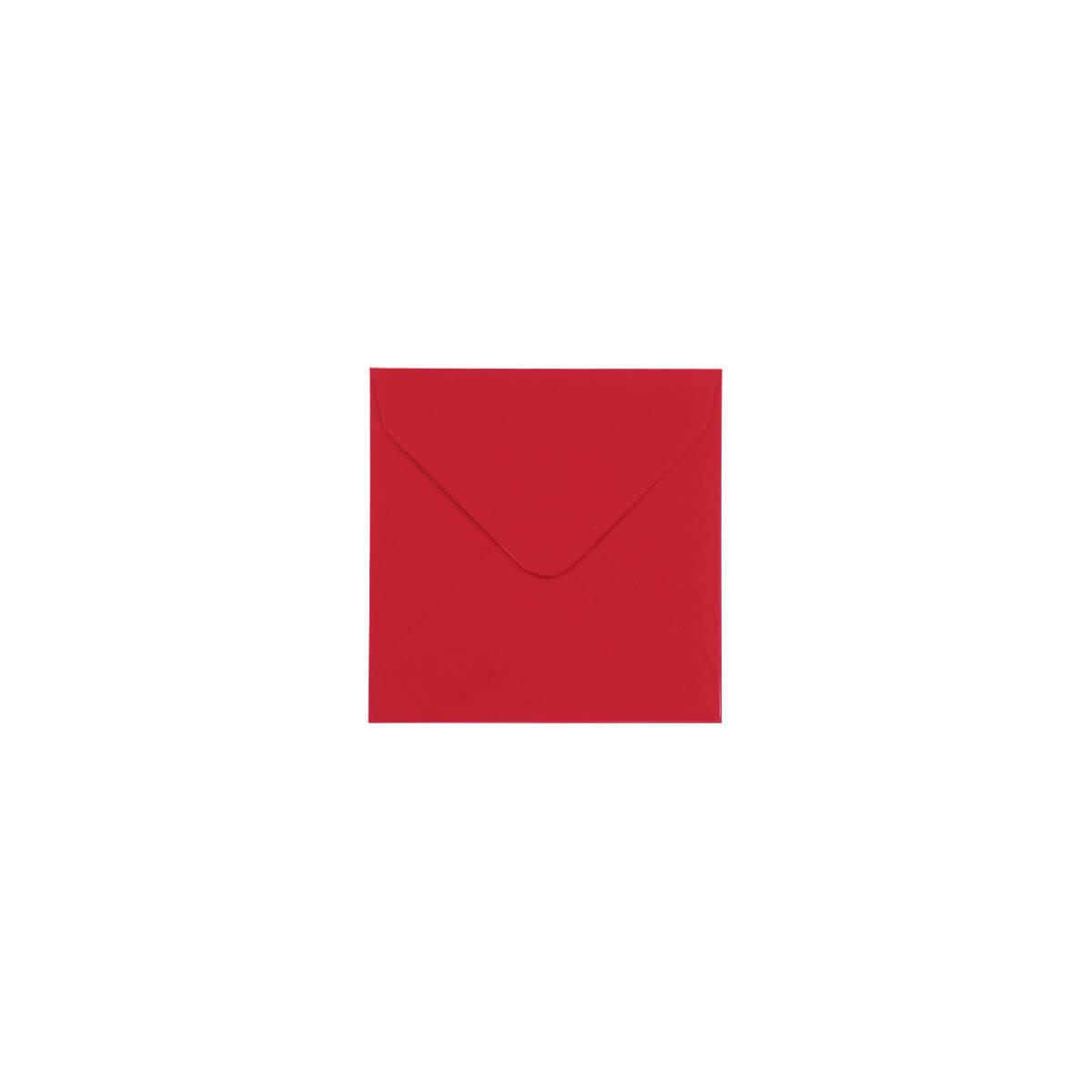 SCARLET RED 100mm SQUARE ENVELOPES