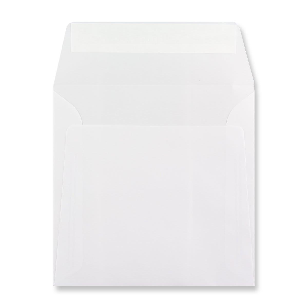 125 x 125MM WHITE TRANSLUCENT ENVELOPES