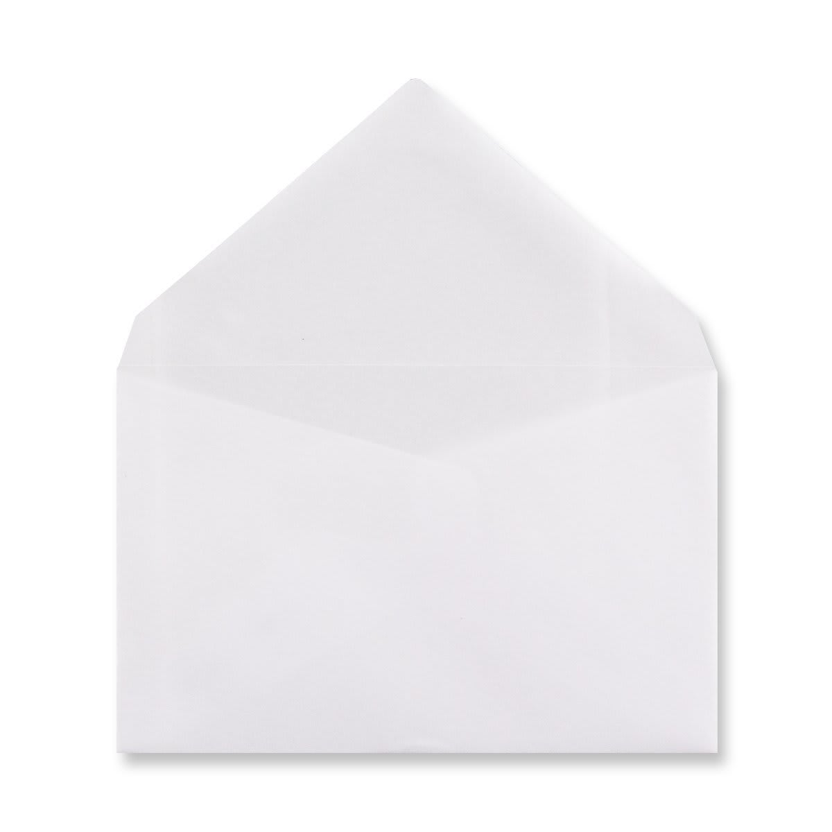 62 x 98MM WHITE TRANSLUCENT ENVELOPES
