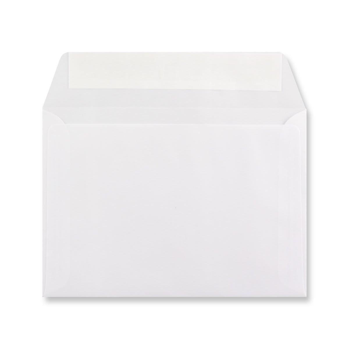 C6 WHITE TRANSLUCENT ENVELOPES