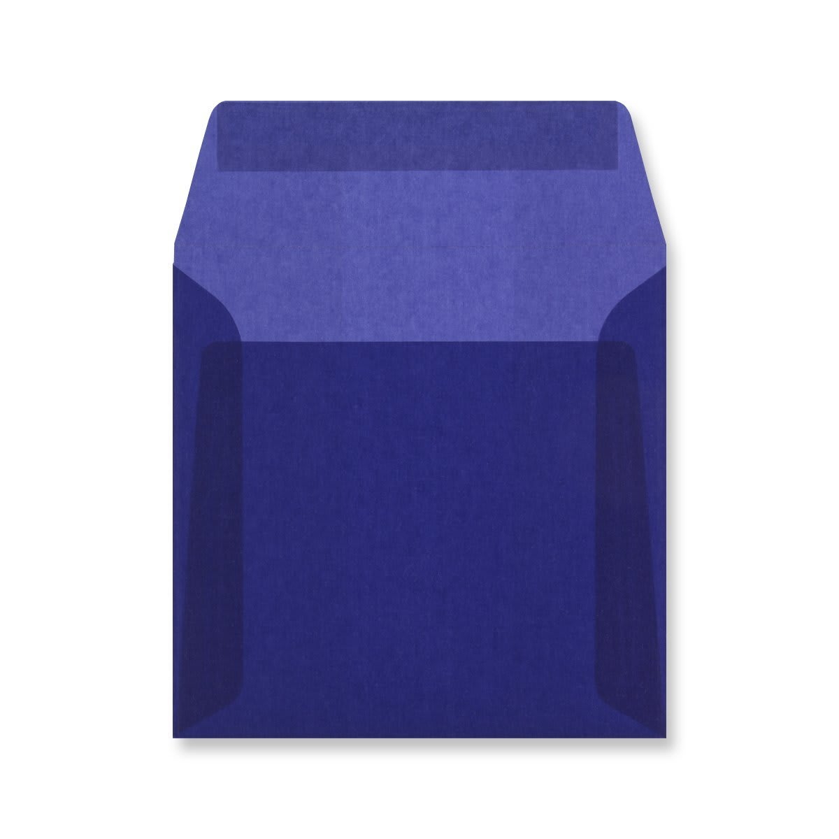 125 x 125MM DARK BLUE TRANSLUCENT ENVELOPES