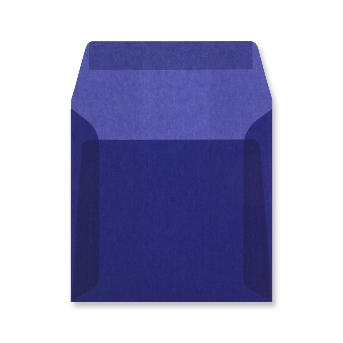 160 x 160MM DARK BLUE TRANSLUCENT ENVELOPES