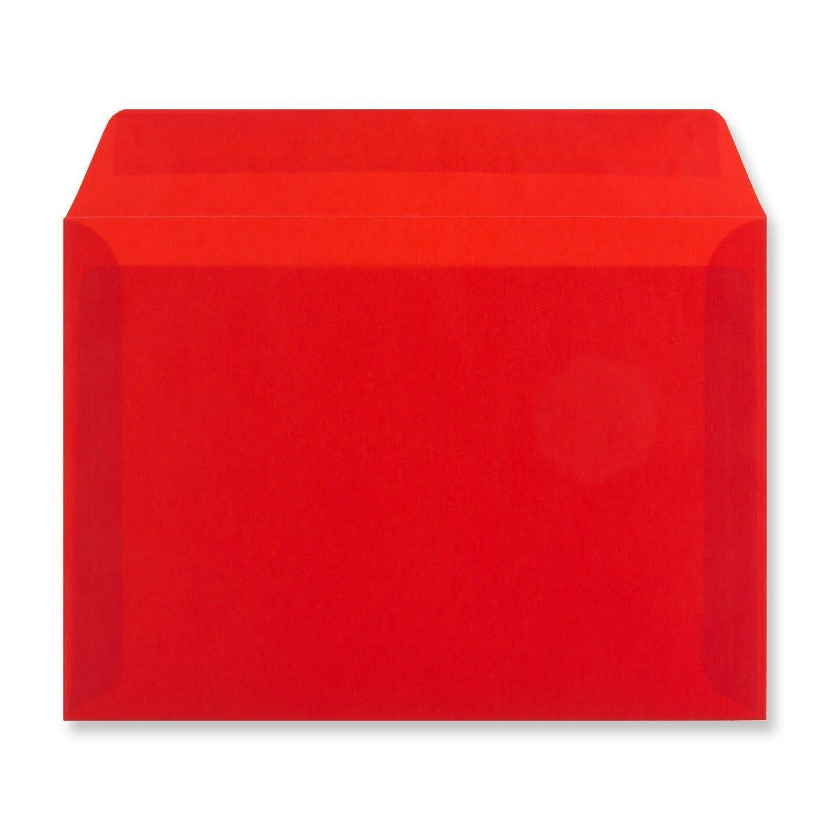 C5 RED TRANSLUCENT ENVELOPES
