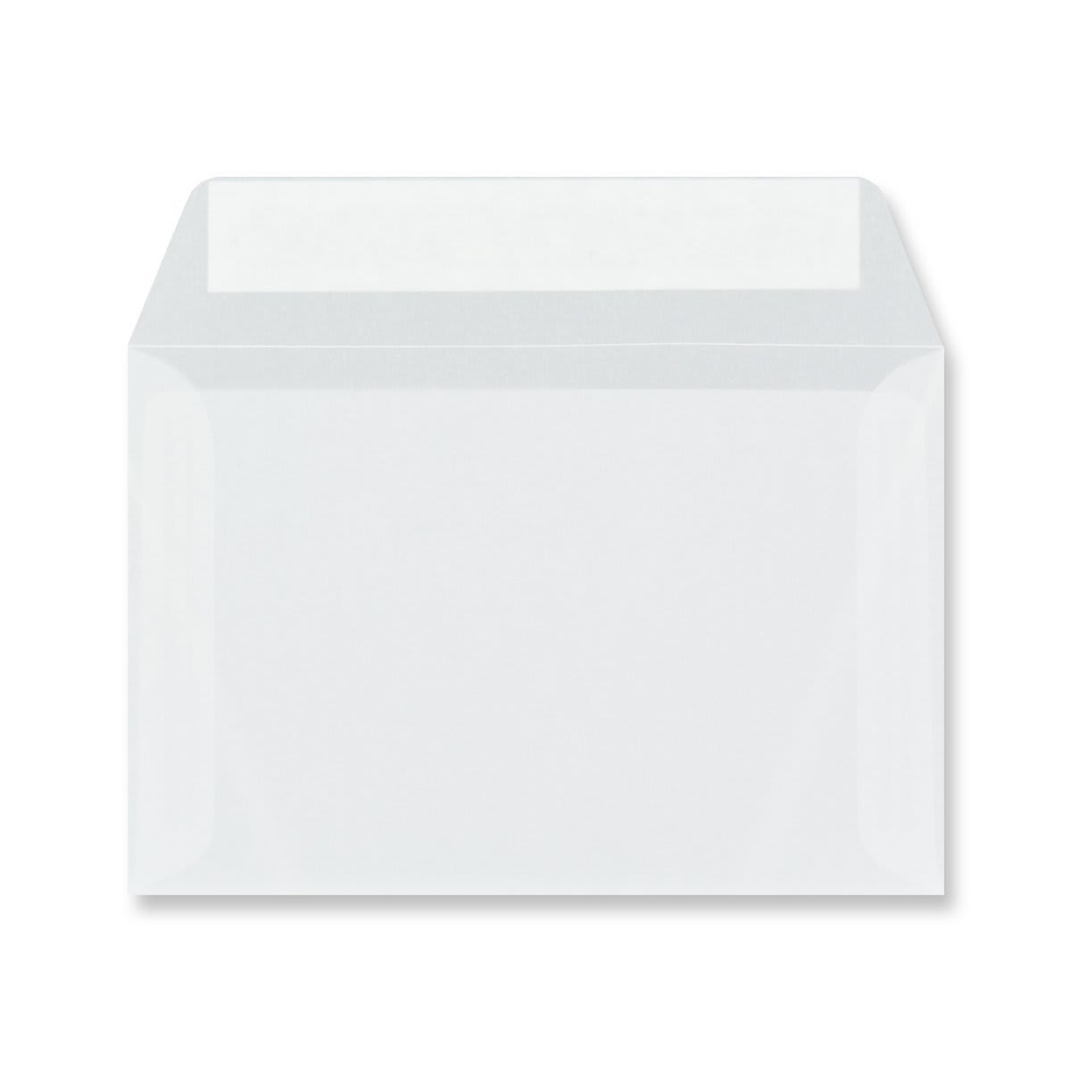 C6 CLEAR TRANSLUCENT ENVELOPES