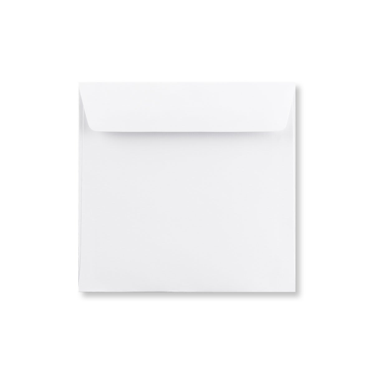 155MM SQUARE WHITE 120GSM PEEL AND SEAL ENVELOPES