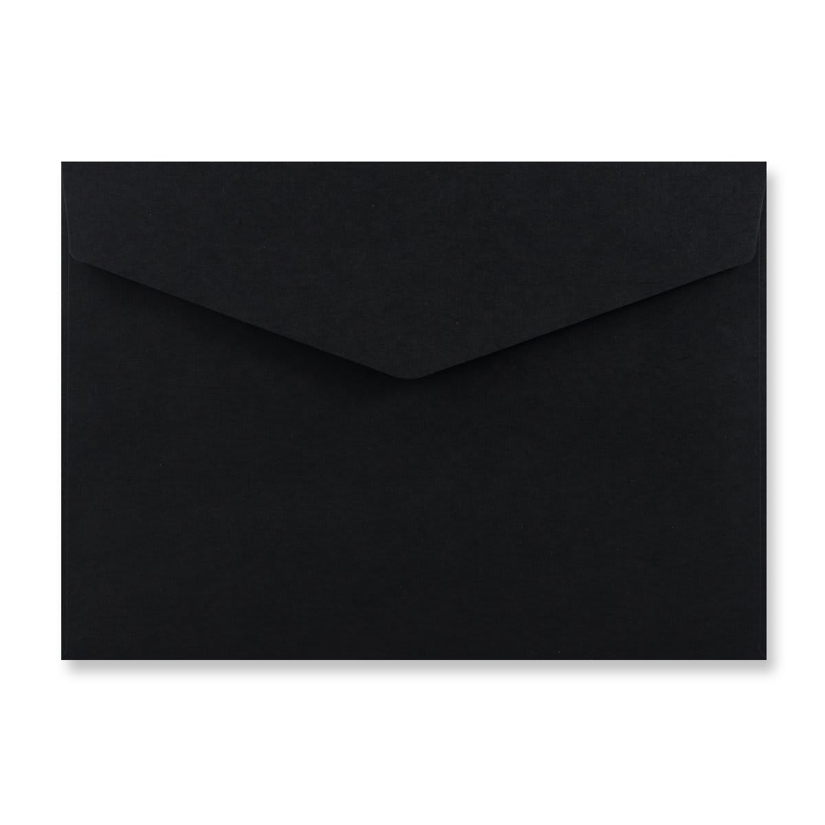 C6 BLACK V-FLAP PEEL AND SEAL ENVELOPES