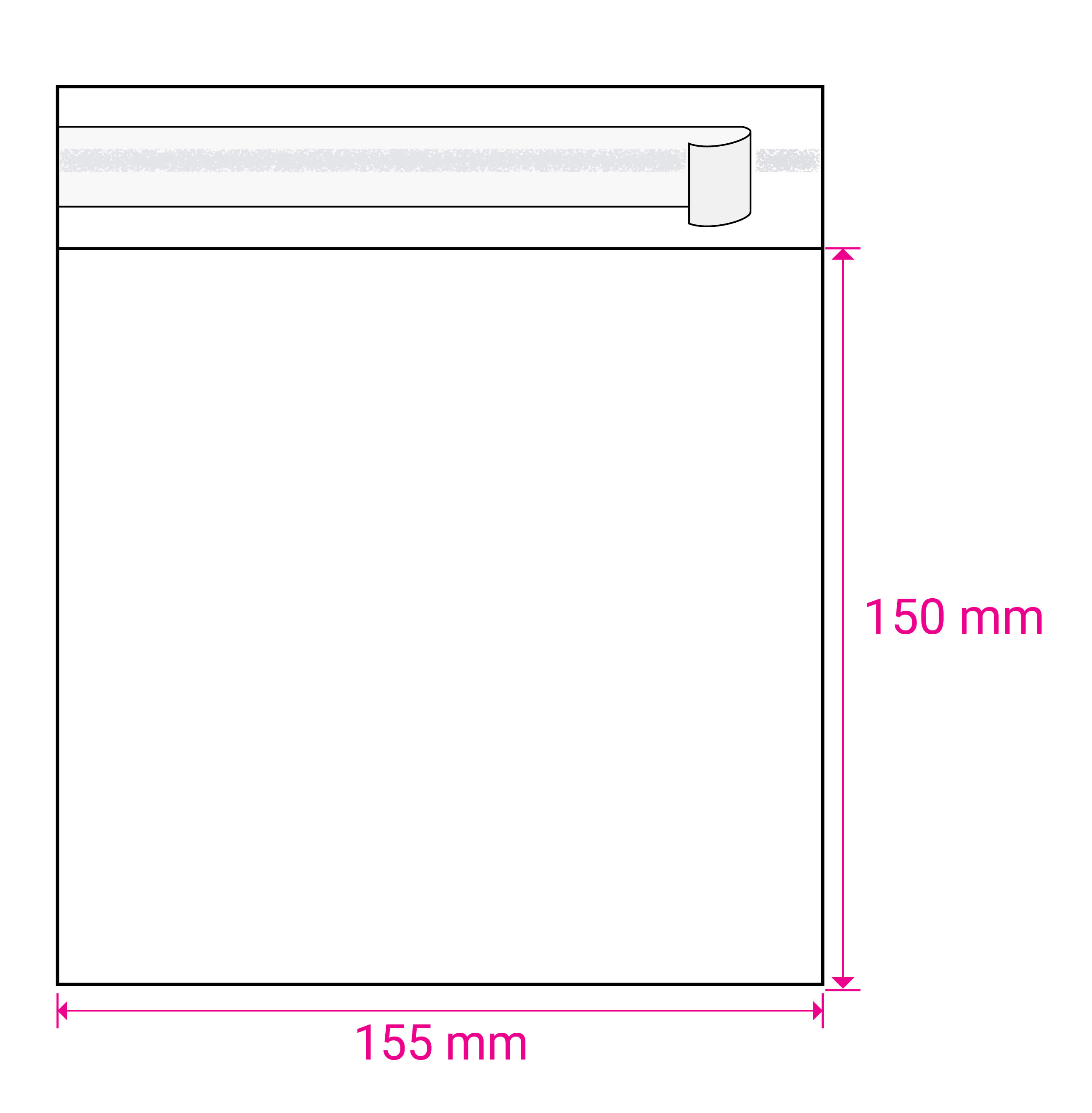 CLEAR CELLO BAGS to fit: 150 mm Square (SELF ADHESIVE)