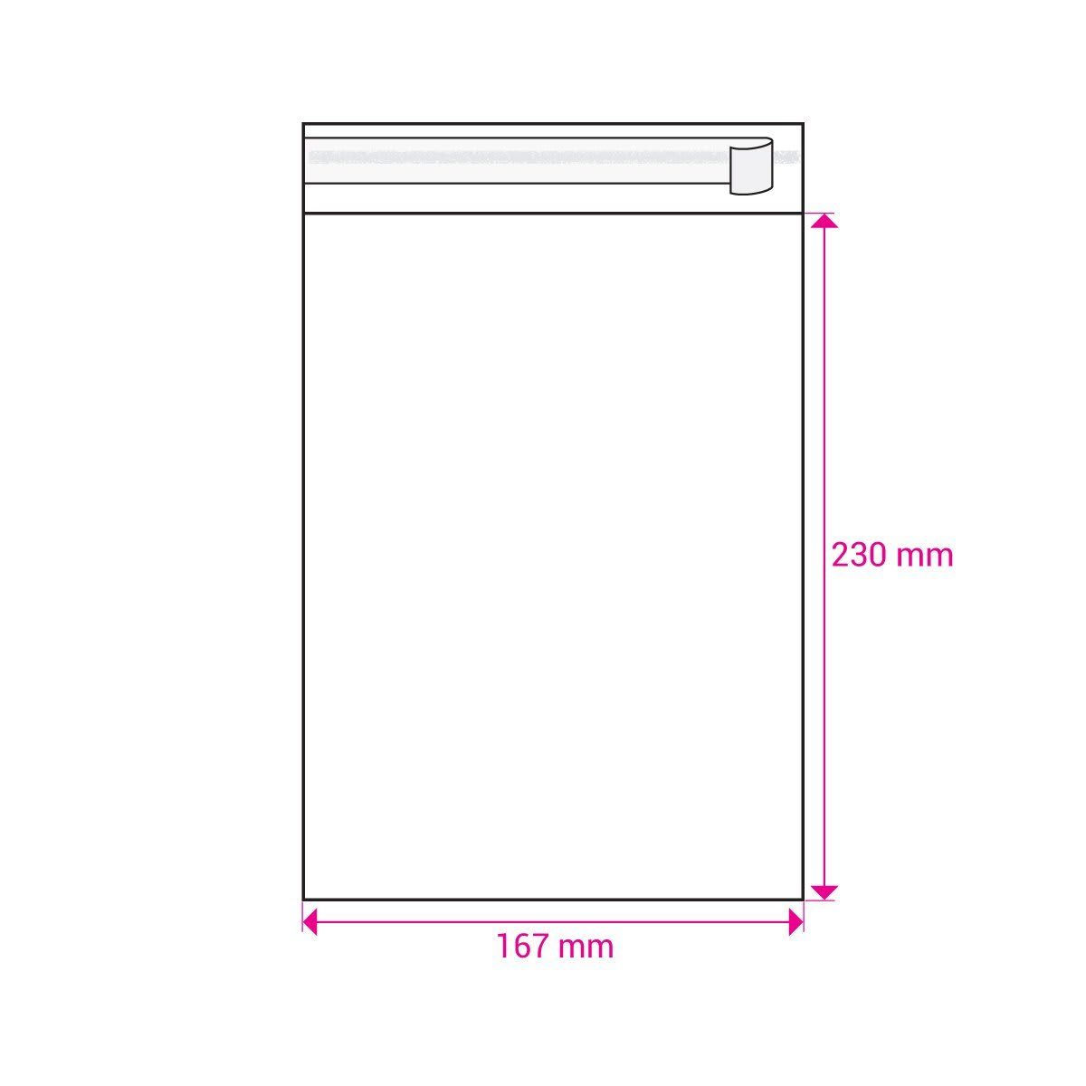 CLEAR CELLO BAGS to fit: C5 162 x 229 mm Envelope (SELF ADHESIVE)