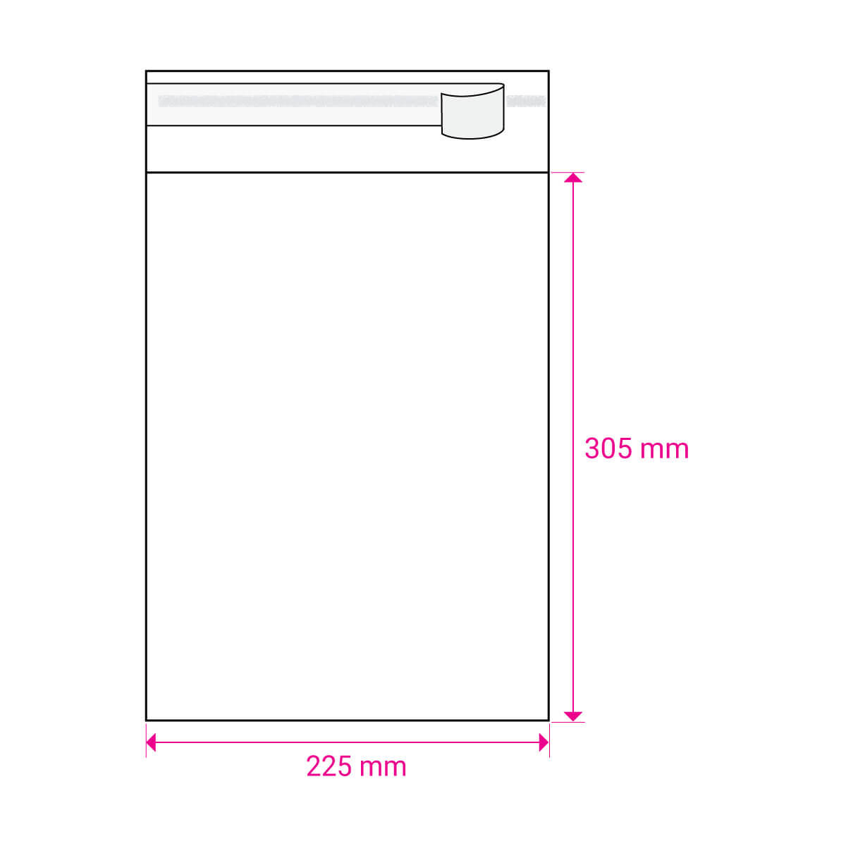 CLEAR CELLO BAGS to fit: A4 210 x 297 mm (SELF ADHESIVE)