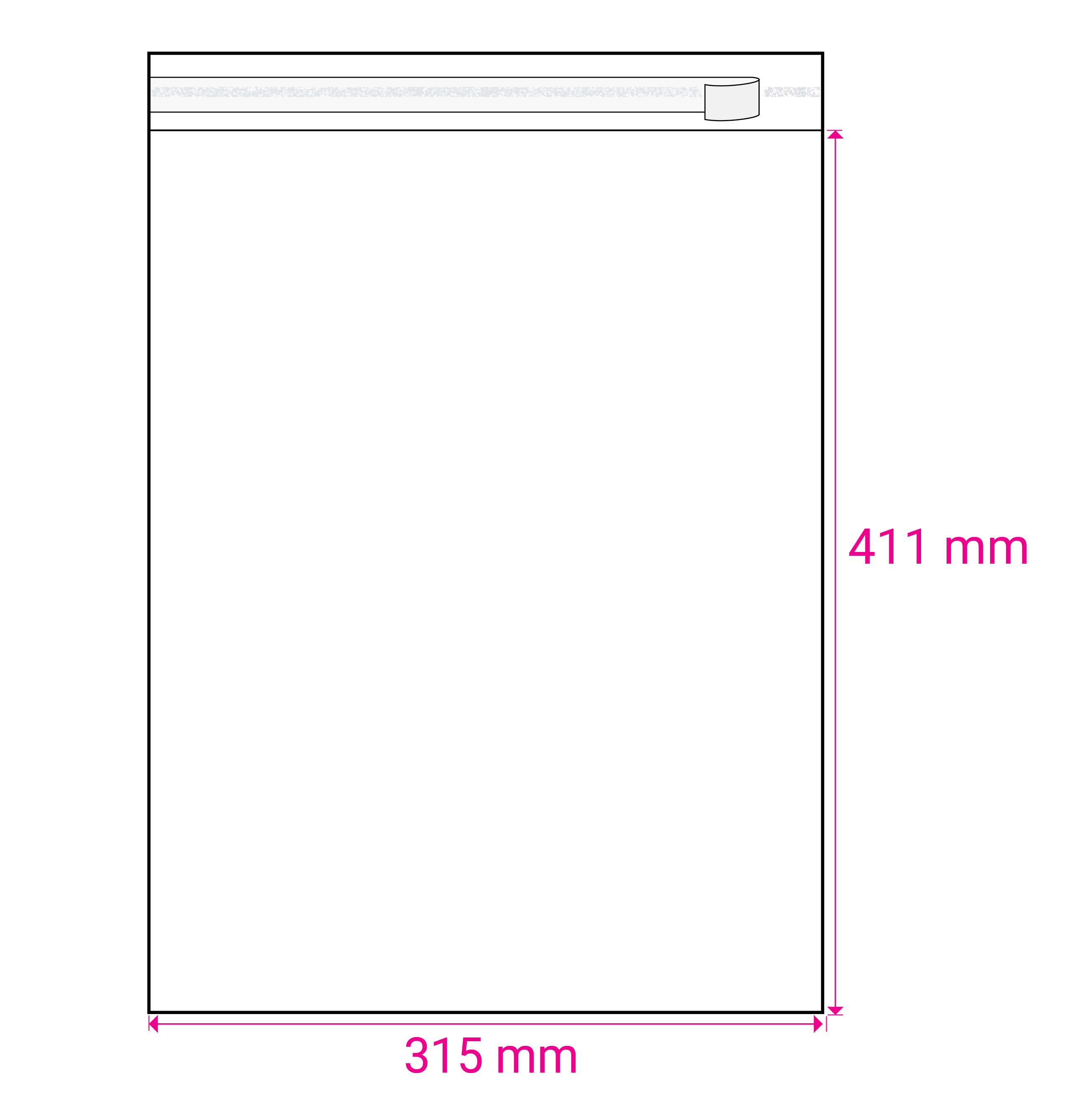CLEAR CELLO BAGS to fit: A3 297 x 420 mm (SELF ADHESIVE)