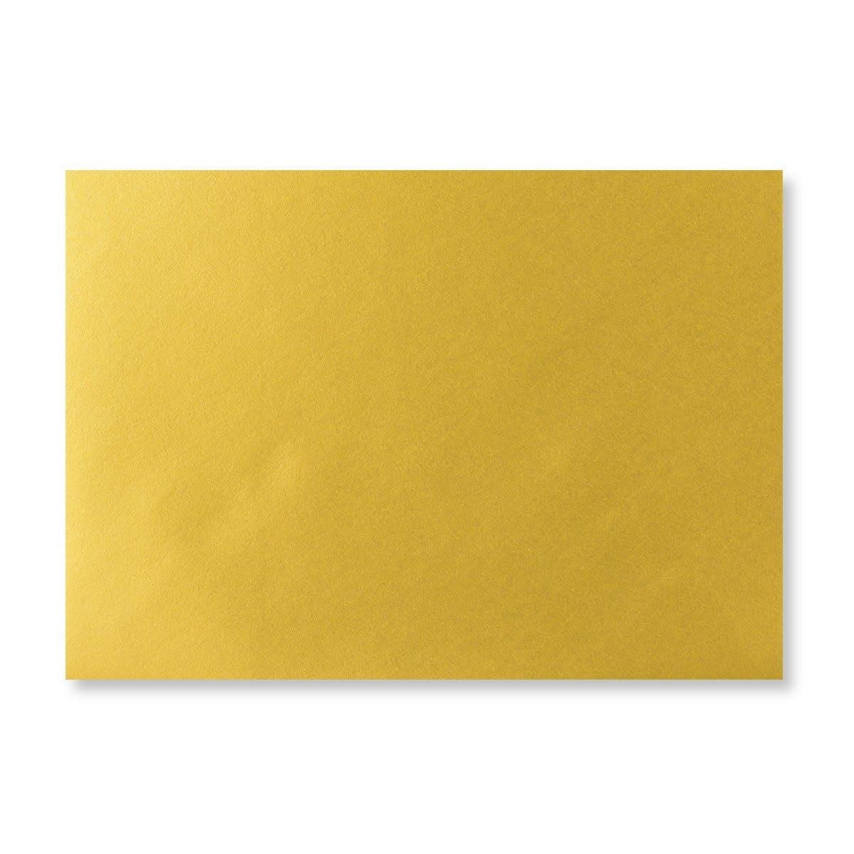 METALLIC GOLD 125 x 175 mm ENVELOPES (i6)