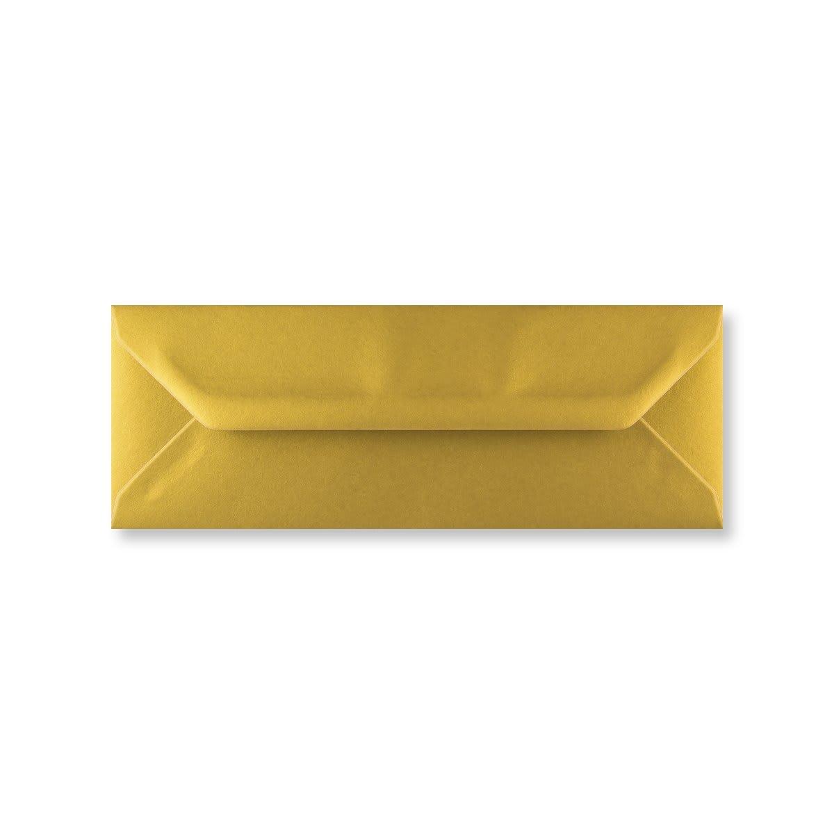 METALLIC GOLD 80 x 215 mm ENVELOPES (i3)
